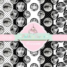 Fornasetti - Instant Download - Digital Collage Sheet - Fornasetti Plate - Digital Paper - Scrapbook Paper - Printable Collage Sheet