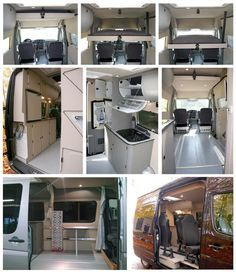 Campervan Ideas, Sprinter Camper, Camper Conversion, Double Beds, Camper Van, Motorhome, Campers, Motorcycles, Trucks