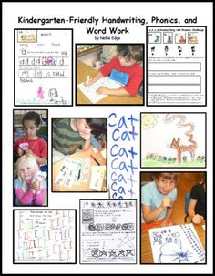 "Kindergarten-Friendly Handwriting is multisensory and differentiated, and is integrated into authentic writing, phonics, and word work. Photo essay from ""Kindergarten Writing and the Common Core"" by Nellie Edge."