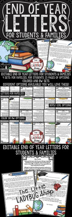 You will Love these Editable End of Year Letters! This is a perfect way to show your love and appreciation to your students on their last day of school! The End of Year Letters- parent letter is one that has been passed down many years and I actually received it from my 5th grade teacher and have it in my memory book! Your students and parents will love these!