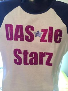 BLING rhinestone/glitter shirt - personalize to your team colors!