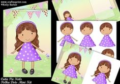 Cutie Pie Kids Polka Dots Mini Kit on Craftsuprint - View Now! A5, Decoupage, Card Making, Polka Dots, Children, Mini, How To Make, Cards, Young Children