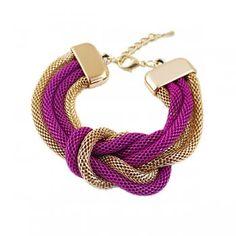 Black Purple Green Color Zinc Alloy Charm Bracelet for Fashion