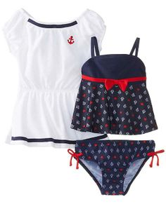 Baby Buns Girls Little Lady Terry Cover Up Swim Set