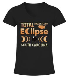 """# Total Solar Eclipse South Carolina Shirt .    The solar eclipse of 2017 is happening in America. Get this beautiful graphic tshirt showing ths moon covering the sun, with """"Eclipse 2017"""" overlayed. This is the ideal gift for astronomers or any one who is going to see the totality of the solar eclipse. The path of the total solar eclipse crosses the United States of America on 21 August 2017, make sure you grab this tee to celebrate this magnificent event. Be the envy of your friends with…"""