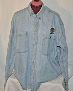 Original Hard Rock Cafe Edmonton Denim Shirt Large  #hardrockcafe #edmonton #denimshirt