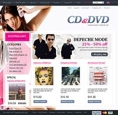 CD DVD ZenCart Templates by Di