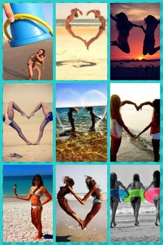 Beach picture ideas with best friend