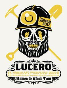 GigPosters.com - Lucero  http://www.gigposters.com/designer/17592_Furturtle_Printworks.html