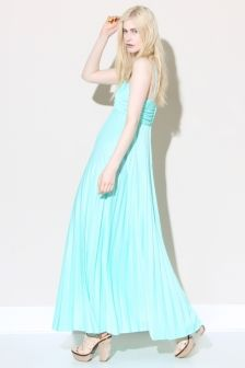 Vintage 70s Mint Green Maxi Dress | Thrifted & Modern http://thriftedandmodern.com/vintage-70s-pleated-mint-maxi-dress#