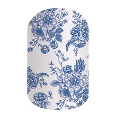 Fine China | Jamberry | With intricately detailed blue-and-white botanicals, 'Fine China' is effortlessly elegant.