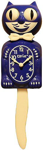 Kit-Cat Clocks have been delighting America with their wagging tails and swaying eyes since 1930. The traditional vintage look delivers precise time and fun movement into one. Made in the USA by Quality Craftsman. This clock is sure to bring a smile to the face of you and your guests!