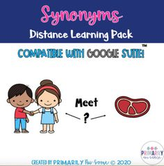 Synonyms Distance Learning Work Pack by Primarily Au-Some | TpT