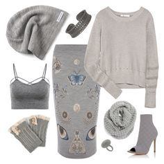 """""""50 shades of winter #keepknitting"""" by juliet-elizabeth-george ❤ liked on Polyvore featuring Converse, Journee Collection, Alexander McQueen, T By Alexander Wang, Gianvito Rossi, Halogen and contestentry"""
