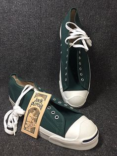 3b13cf4dedac NWOB Hunter Green Vintage Converse Jack Purcell 100% USA Size 12 Converse  Jack Purcell