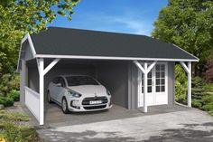 Moderne 30 carport m skur 30th, Shed, Garage, Loft, Outdoor Structures, Pavilion, Carport Garage, Garages, Lofts