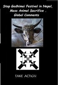 Stop Gadhimai Festival in  Nepal, Mass Animal Sacrifice . Global Comments - copertina