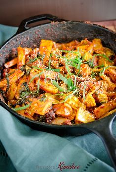 "Dak Galbi, spicy chicken and rice cakes of Chuncheon…………………..  1 lb (450g) boneless, skinless chicken thigh, diced  1/2 lb (250g) Korean rice cake sticks  1/4-1/2 cabbage, diced  8-10 perilla leaves, sliced  1/2 large onion, sliced  1 medium sweet potato, sliced into 1/4"" thick wedges  2 tablespoon grape seed or canola oil  2-4 tablespoon water"