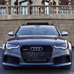 """"""" The mean mug of the station wagon that smokes most of the cars out there. The insane RS6 Avant by @auditography """""""