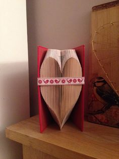 Heart Folded Book Art Pattern  Instant download PDF par Foldilocks