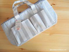 おむつ替えセットに最適 ダイソーのピクニックバッグ おむつ替え