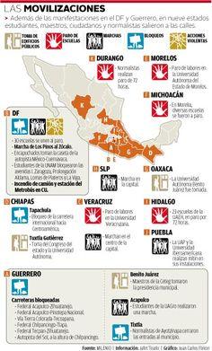 Marchas por Ayotzinapa.