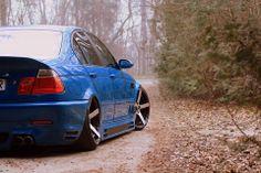 BMW E46 M3 blue slammed