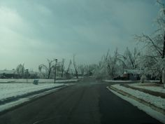 2009 ice storm in Springdale Arkansas. The scenery after the storm was completely different. Where there once was beautiful tree branches reaching towards the sky, were now bare and empty.