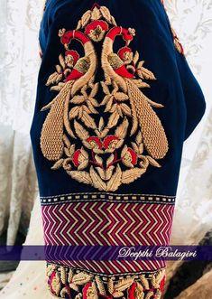 Silk Saree Blouse Designs, Bridal Blouse Designs, Maggam Work Designs, Wedding Saree Blouse, Peacock Design, Work Blouse, Sleeve Designs, Indian Designer Wear, Embroidery Blouses
