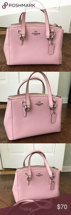 Coach Purse/ Crossbody Gorgeous Authentic Pink Coach with silver hardware. Purse strap is removable for versatility. Excellent condition, only carried once. Coach Bags Crossbody Bags