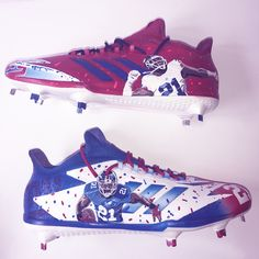 1af72e327f27f4 Custom Landon Collins Adidas Football Cleats we painted here at our 88  Custom Design shop