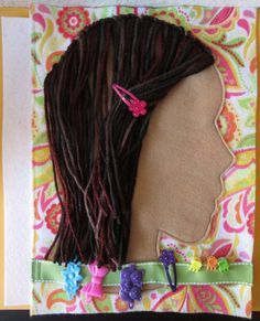 Hair-do Quiet Book Page by AcorntoZebraCollage on Etsy