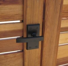 If you're looking for a modern lever gate latch, this stainless steel gate latch is ideal for coastal locations. The Nero Latch is crafted of Stainless Steel and aluminum, then powder coated satin black for protection against the elements. The lever handl