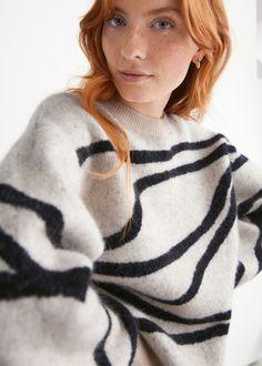 Jacquard Crewneck Jumper - Beige - Sweaters - & Other Stories GB