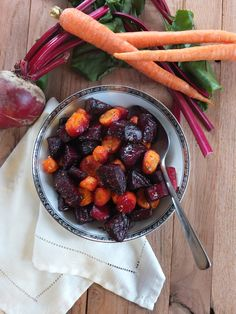 Roasted Beets and Carrots with Rosemary Garlic Butter - big hit with the family!