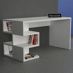 Decortie Aaron Office Table, White | ACHICA
