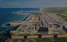 Caesarea Maritima on the Mediterranean coast of Israel, as revealed by archaeology. Herod the Great began construction on the city in the 1st century BC. View to the north. Balage Balogh/Archaeologyillustrated.com