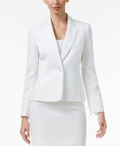 783999d31f6 Le Suit Single-Button Textured Skirt Suit   Reviews - Wear to Work - Women  - Macy s