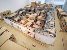 WORKS /2014卒業制作 of fuse-studio Japan Architecture, Industrial Architecture, Architecture Drawings, School Architecture, Architecture Design, Emergency House, Cardboard Model, City Farm, Arch Model