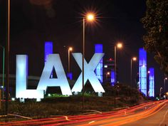 "Photo ""LAX Airport sign at night"" in the album ""Member Galleries"" by Marty Kay Cartoon Fist, Airport Signs, Moving To Canada, Mere Mortals, Macau, Southern California, Travel Guides, Places To See, My Books"