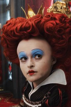 wonderland-make-up...haha iw as talking about this the other day! would have been fun to be her artist.