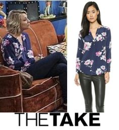 Penny wears the Joie Deon B Blouse in Season 9, episode 5. More of her looks at TheTake.com