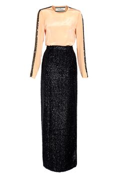 Enidun Maxi Dress with Textured Skirt by By Malene Birger