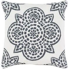 Hemma Black and White 20 x 20-Inch Throw Pillow