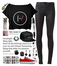"""//c l i q u e ,, s k e l e t o n//"" by tumblr-fluid ❤ liked on Polyvore featuring Diesel, Converse, Sharpie and BERRICLE"