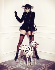 """The Terrier and Lobster: """"Pet Your Girl"""" by Kim Bo Sung for Vogue Korea"""