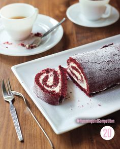Try The Hummingbird Bakery's delicious red velvet roulade recipe and other naing recipes from Red Online Baking Recipes, Cake Recipes, Dessert Recipes, Desserts, Sweet Recipes, Velvet Cake, Red Velvet, Velvet Cupcakes, Roulade Recipe