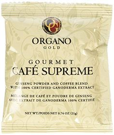 Organo Gold Cafe Supreme 100% Certified Ganoderma Extract Sealed ** Read more  at the image link.