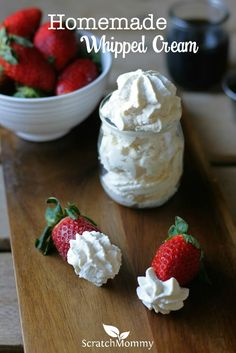 Homemade whipped cre