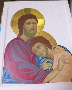 Come vi avevo già detto nei precedenti post questa è l'icona di misura che ho realizzato per il piccolo Giovanni, per la sua mamma Frances...